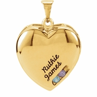 Mother's Engraveable Locket - Customizable