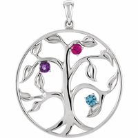 Mother's Tree Necklace - Customizable