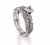 Palladium Engagement Ring by ArtCarved