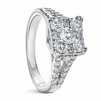 Princess Cut Split Band Ring - 1.20ctw
