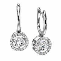 Rhythm of Love Diamond Earrings - Beautiful Halo's