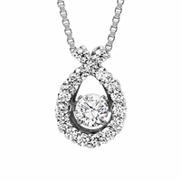 Rhythm of Love Diamond Necklace - Ribbon
