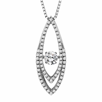Rhythm of Love Diamond Necklace - Double Oval Drop