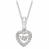 Rhythm of Love Diamond Heart Necklace