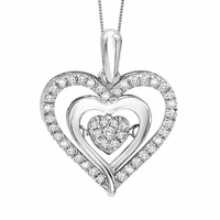 Rhythm of Love Diamond Heart Pendant - .20ctw