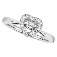 Rhythm of Love Diamond Heart Halo Ring