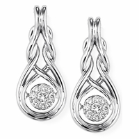 Rhythm of Love Diamond Silver Earrings