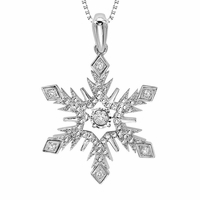 Rhythm of Love Diamond Snowflake Pendant - .05ctw