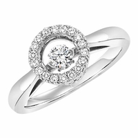 Rhythm Of Love Round Halo Diamond Ring