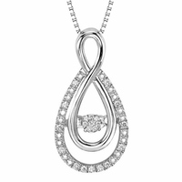 Rhythm Of Love Silver & Diamond Pendant - Infinity Design
