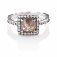 Rough Cut Carmel Colored Diamond Ring - Kamala Collection