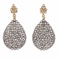 Rough Cut Diamond Earrings - 3.70ctw