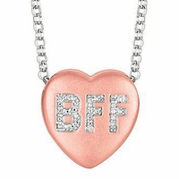 "Sweethearts Diamond ""BFF"" Necklace"
