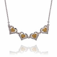 Yellow & White Diamond Necklace