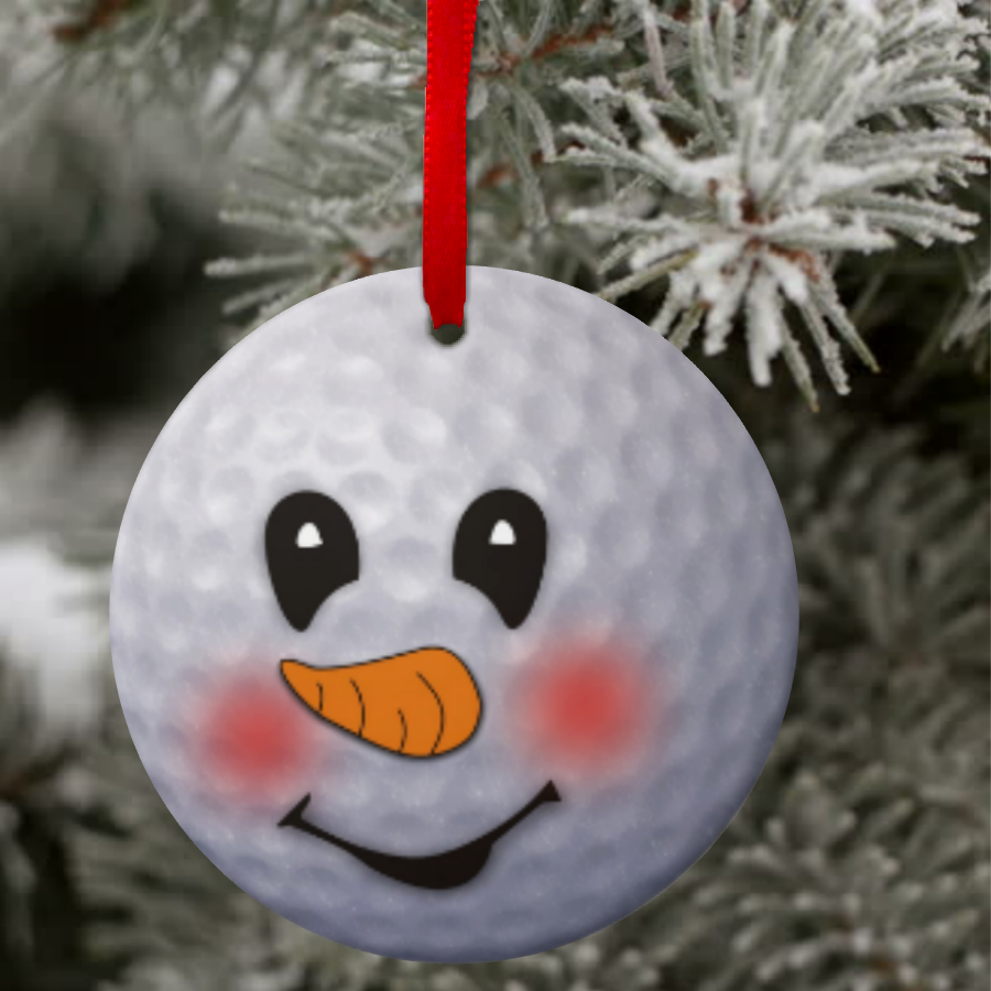 Snowmen christmas ornaments - Golf Snowman Ornament Custom Golf Ball Snowman Christmas Ornament Gift Tag Personalized Golf Christmas Gift Golf Ornament Keepsake