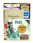 70th Birthday Gift Basket, 1945 Gift Basket