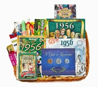 60th Gift Basket for 1956 or 1957 - ON SALE!