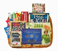 1966 or 1967 Gift Basket with Coins -ON SALE!