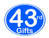 43rd Birthday Gifts, 43rd Anniversary Gifts