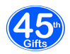 45th Birthday Gifts, 45th Anniversary Gifts