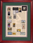 48th Gift Idea - 1967 Stamp Art -SAVE 50%
