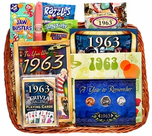 50th Birthday Gift Basket, 50th Anniversary Gift Basket