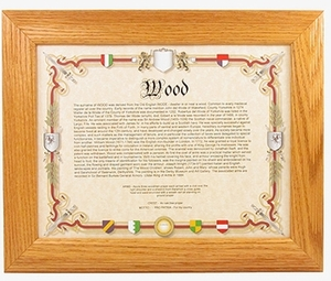 58th Birthday Gifts: Genealogy of Last Name Print