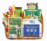 60th Gift Basket for 1957 with Coins