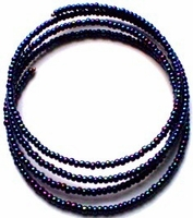 Blue Iris Bead Collar