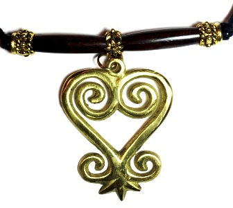 Brass Sankofa Large Wood