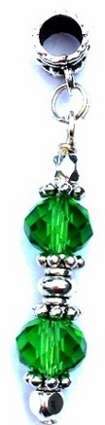 Kelly Green Double Crystal