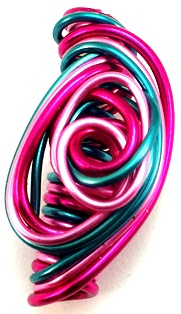 Pink Passion Wire Hair Jewelry