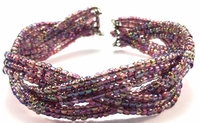 Purple Iris Braid Bracelet