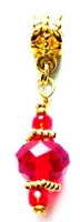 Red Crystal Ball Hair Jewel