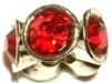 Silver Large Red Crystals