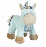 Baby Ganz Wee Western Horse with Rattle - Blue
