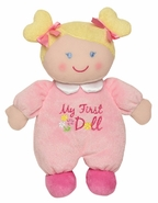 "Baby Starters ""My First Doll"" Plush Toy - Pink w/Blonde Hair"