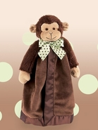 Bearington Baby Giggles the Monkey Snuggler Security Blanket