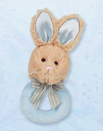 Bearington Baby Lil Bunny Tail Rattle - Blue
