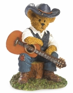 Boyds Bears Cash Country Music Boy Bearstone Figurine