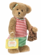 Boyds Bears Eva Shop Till You Drop Plush Bear 12""