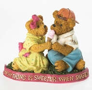 Boyds Bears Ice Cream Ben and Edy Sugarbeary Figurine
