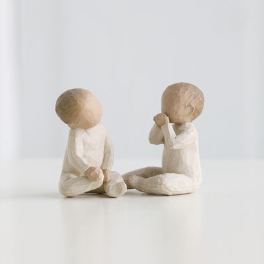 Willow Tree Two Together Twin Babies Figurine From Demdaco