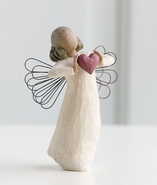 "DEMDACO Willow Tree ""With Love"" Angel with Heart"