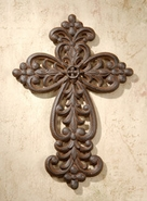 Faith Collection Cast Iron Cross 10 inch style fc774