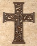 Faith Collection Cast Iron Cross 10 inch - style fc690