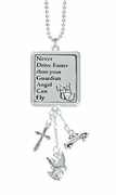 Ganz Car Charm Never Drive Faster Guardian Angel