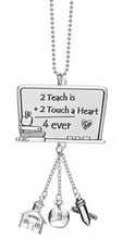 Ganz Teacher Car Charms - To Teach is to Touch a Heart Forever