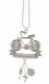 "Ganz Car Charms - Bicycle ""I'd Rather Be Bicycling"""
