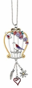 Ganz Car Charms - Color Art Birdcage